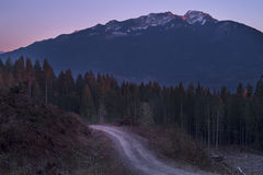 Mountain Glow. A sunset cascades it's beauty into the alpine glow along Mt. McGuire, Chilliwack, Fraser Valley, BC, Canada Royalty Free Stock Photo