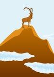 Mountain goat stock illustration