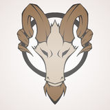 Mountain goat vector illustration Royalty Free Stock Photography