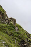Mountain goats near hiking route through arch Royalty Free Stock Photography