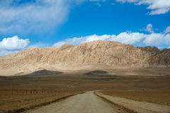 Mountain in gobi royalty free stock photography