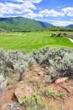 Mountain  golf course Stock Image