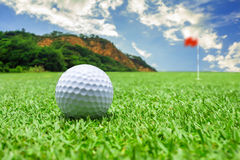 Mountain golf course Stock Images