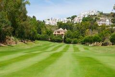 Mountain golf resort Stock Photo