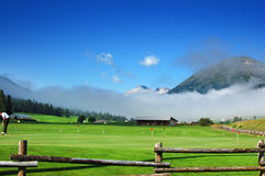 Mountain Golf - Zuoz, Engadina Switzerland Royalty Free Stock Photo