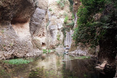Mountain gorge in Ronda, Malaga Province, Andalusia, Spine Royalty Free Stock Image