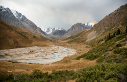 Mountain Gorge in Tian Shan mountain, Kazakhstan Stock Photography