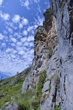 Mountain gorge Valley of Mountain Spirits. Natural landmark in Altai region - rocks in mountain gorge Che-Chkysh Valley of Mountain Spirits Royalty Free Stock Photo