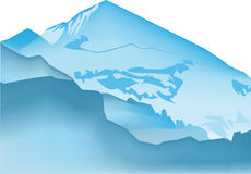 Mountain gradient. Vector gradient mesh of a mountains Stock Photo