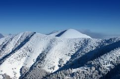 The mountain Great Rozsutec in winter Royalty Free Stock Photos
