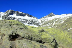 Mountain of Gredos at Avila in Castilla Royalty Free Stock Images