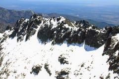 Mountain of Gredos at Avila in Castilla Royalty Free Stock Photo