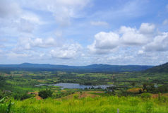 Mountain. Green field and mountain after raining at khao kho, petchaboon province Royalty Free Stock Photography