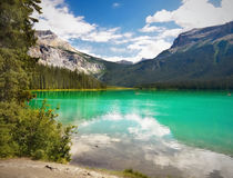 Mountain Green Lake, Emerald Lake Stock Photo