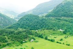 Mountain and green landscape of Montenegro Royalty Free Stock Photography