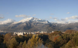 Mountain at Grenoble City ,Alpes, France. Stock Photos