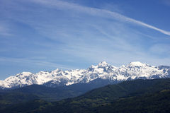 Mountain at Grenoble City Royalty Free Stock Photo