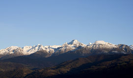 Mountain at Grenoble City Royalty Free Stock Photography