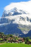 Mountain in Grindelwald Royalty Free Stock Image
