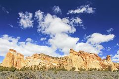 Mountain at Grosvenor Arch double arch, Cottonwood Canyon Road in Grand Staircase Escalante National Monument, Utah. United States, USA stock photo