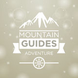 Mountain guides adventure Stock Photo