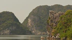 Mountain Ha Long Bay. North Vietnam. stock footage