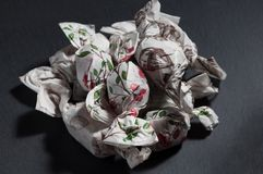A mountain of handmade candies royalty free stock image