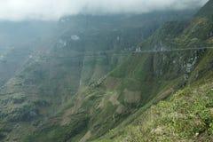 Mountain and Happy road at Ma Pi Leng Stock Photo