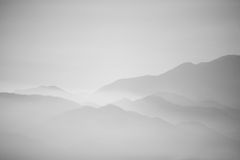 Mountain haze. Landscape, view from palm springs, CA royalty free stock photography