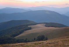 Mountain hazy daybreak Royalty Free Stock Photo