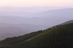 Mountain hazy daybreak Royalty Free Stock Images