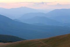 Mountain hazy daybreak Stock Images