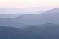 Mountain hazy daybreak Royalty Free Stock Photography
