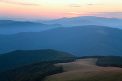 Mountain hazy daybreak Stock Images