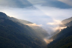 Mountain hazy daybreak Royalty Free Stock Photos