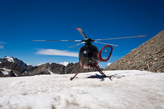 Mountain Helicopter - New Zealand royalty free stock photography