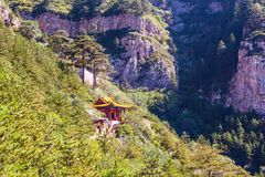 Mountain Hengshan(Northern Great Mountain) scene. Stock Images