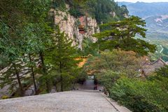 Mountain Hengshan(Northern Great Mountain) scene. Stock Image
