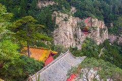 Mountain Hengshan(Northern Great Mountain) scene. Royalty Free Stock Photography