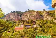 Mountain Hengshan(Northern Great Mountain) scene. Stock Photos