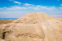 Mountain of The Herod's castle machareus Jordan Royalty Free Stock Photos