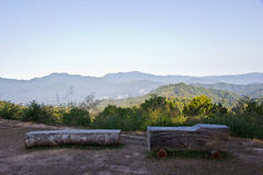 Mountain high point view in thailand Royalty Free Stock Image