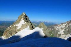 Mountain high rock peak Stock Photo