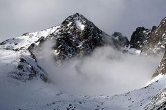 Mountain - High tatry (Skalnate pleso, Slovakia) royalty free stock image