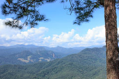 Mountain high in thailand. Beautiful summer mountain high complex in thailand Royalty Free Stock Image