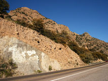 Mountain highway. Mountains by highway into Bisbee, Arizona Royalty Free Stock Photo