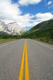 Mountain highway. Into canadian rockies Stock Photo