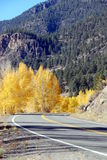 Mountain Highway in Autumn Stock Photo