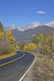 Mountain Highway in Autumn Stock Image