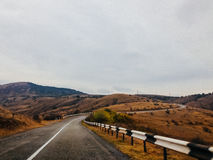 Mountain highway in Crimea Royalty Free Stock Images